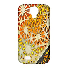 Abstract Starburst Background Wallpaper Of Metal Starburst Decoration With Orange And Yellow Back Samsung Galaxy S4 Classic Hardshell Case (pc+silicone) by Nexatart
