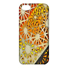 Abstract Starburst Background Wallpaper Of Metal Starburst Decoration With Orange And Yellow Back Apple Iphone 5c Hardshell Case by Nexatart