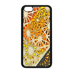 Abstract Starburst Background Wallpaper Of Metal Starburst Decoration With Orange And Yellow Back Apple Iphone 5c Seamless Case (black) by Nexatart