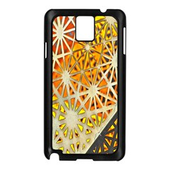 Abstract Starburst Background Wallpaper Of Metal Starburst Decoration With Orange And Yellow Back Samsung Galaxy Note 3 N9005 Case (black) by Nexatart