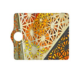Abstract Starburst Background Wallpaper Of Metal Starburst Decoration With Orange And Yellow Back Kindle Fire Hdx 8 9  Flip 360 Case