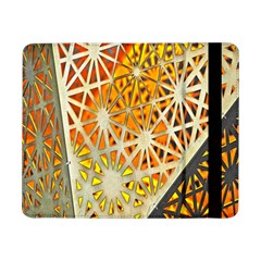 Abstract Starburst Background Wallpaper Of Metal Starburst Decoration With Orange And Yellow Back Samsung Galaxy Tab Pro 8 4  Flip Case