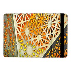 Abstract Starburst Background Wallpaper Of Metal Starburst Decoration With Orange And Yellow Back Samsung Galaxy Tab Pro 10 1  Flip Case by Nexatart