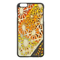 Abstract Starburst Background Wallpaper Of Metal Starburst Decoration With Orange And Yellow Back Apple Iphone 6 Plus/6s Plus Black Enamel Case by Nexatart