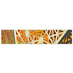 Abstract Starburst Background Wallpaper Of Metal Starburst Decoration With Orange And Yellow Back Flano Scarf (small) by Nexatart