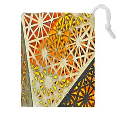Abstract Starburst Background Wallpaper Of Metal Starburst Decoration With Orange And Yellow Back Drawstring Pouches (xxl) by Nexatart
