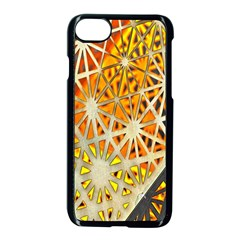 Abstract Starburst Background Wallpaper Of Metal Starburst Decoration With Orange And Yellow Back Apple Iphone 7 Seamless Case (black) by Nexatart