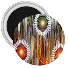 Floral Abstract Pattern Background 3  Magnets