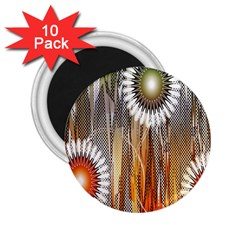 Floral Abstract Pattern Background 2 25  Magnets (10 Pack)