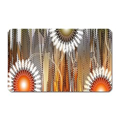 Floral Abstract Pattern Background Magnet (rectangular)