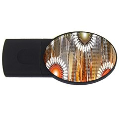 Floral Abstract Pattern Background Usb Flash Drive Oval (2 Gb) by Nexatart