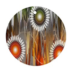 Floral Abstract Pattern Background Round Ornament (two Sides)