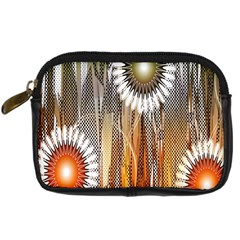 Floral Abstract Pattern Background Digital Camera Cases by Nexatart