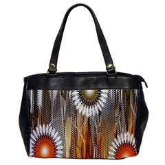Floral Abstract Pattern Background Office Handbags by Nexatart
