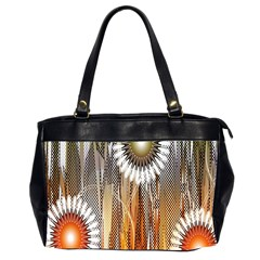 Floral Abstract Pattern Background Office Handbags (2 Sides)