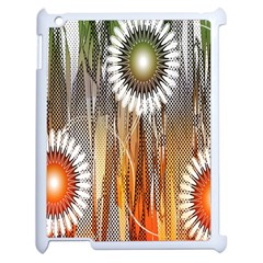 Floral Abstract Pattern Background Apple Ipad 2 Case (white) by Nexatart