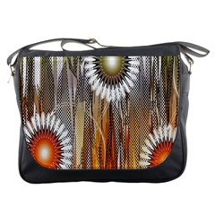 Floral Abstract Pattern Background Messenger Bags
