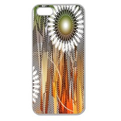 Floral Abstract Pattern Background Apple Seamless Iphone 5 Case (clear)