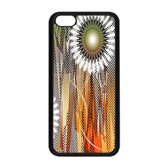 Floral Abstract Pattern Background Apple Iphone 5c Seamless Case (black)