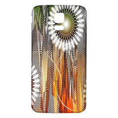 Floral Abstract Pattern Background Samsung Galaxy S5 Back Case (white) by Nexatart