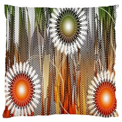 Floral Abstract Pattern Background Standard Flano Cushion Case (two Sides)