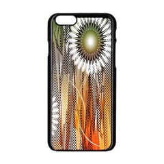 Floral Abstract Pattern Background Apple Iphone 6/6s Black Enamel Case by Nexatart