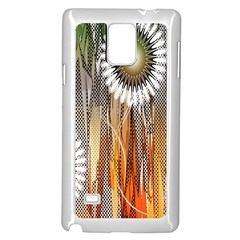 Floral Abstract Pattern Background Samsung Galaxy Note 4 Case (white) by Nexatart