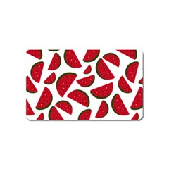 Fruit Watermelon Seamless Pattern Magnet (name Card) by Nexatart