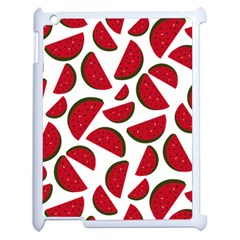 Fruit Watermelon Seamless Pattern Apple Ipad 2 Case (white) by Nexatart