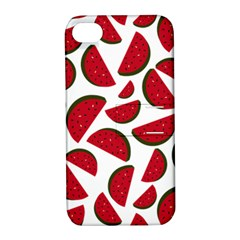 Fruit Watermelon Seamless Pattern Apple Iphone 4/4s Hardshell Case With Stand