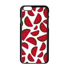 Fruit Watermelon Seamless Pattern Apple Iphone 6/6s Black Enamel Case by Nexatart