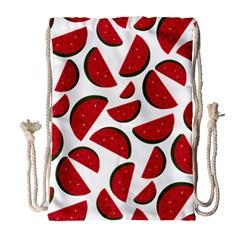 Fruit Watermelon Seamless Pattern Drawstring Bag (large) by Nexatart