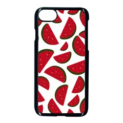 Fruit Watermelon Seamless Pattern Apple iPhone 7 Seamless Case (Black)
