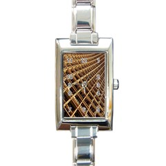 Construction Site Rusty Frames Making A Construction Site Abstract Rectangle Italian Charm Watch by Nexatart