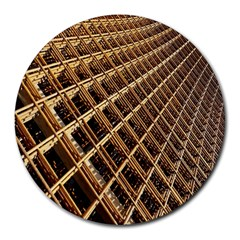Construction Site Rusty Frames Making A Construction Site Abstract Round Mousepads