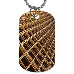 Construction Site Rusty Frames Making A Construction Site Abstract Dog Tag (one Side) by Nexatart