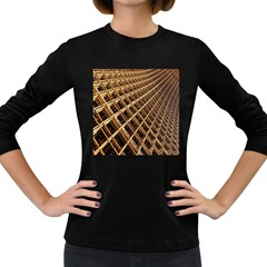 Construction Site Rusty Frames Making A Construction Site Abstract Women s Long Sleeve Dark T Shirts