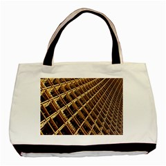 Construction Site Rusty Frames Making A Construction Site Abstract Basic Tote Bag by Nexatart