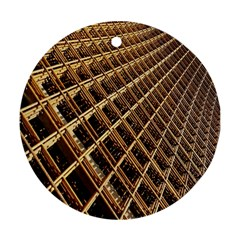 Construction Site Rusty Frames Making A Construction Site Abstract Round Ornament (two Sides) by Nexatart