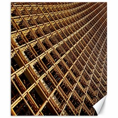 Construction Site Rusty Frames Making A Construction Site Abstract Canvas 20  X 24   by Nexatart