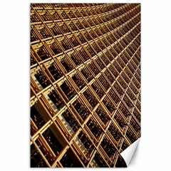 Construction Site Rusty Frames Making A Construction Site Abstract Canvas 24  X 36  by Nexatart