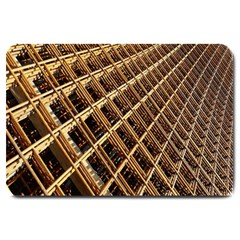 Construction Site Rusty Frames Making A Construction Site Abstract Large Doormat  by Nexatart