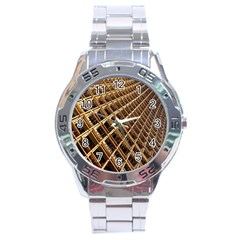 Construction Site Rusty Frames Making A Construction Site Abstract Stainless Steel Analogue Watch by Nexatart
