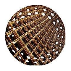 Construction Site Rusty Frames Making A Construction Site Abstract Round Filigree Ornament (two Sides) by Nexatart