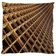 Construction Site Rusty Frames Making A Construction Site Abstract Large Cushion Case (two Sides) by Nexatart