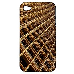 Construction Site Rusty Frames Making A Construction Site Abstract Apple Iphone 4/4s Hardshell Case (pc+silicone) by Nexatart