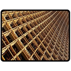 Construction Site Rusty Frames Making A Construction Site Abstract Double Sided Fleece Blanket (large)  by Nexatart
