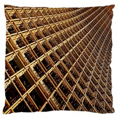 Construction Site Rusty Frames Making A Construction Site Abstract Standard Flano Cushion Case (two Sides) by Nexatart