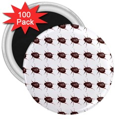 Insect Pattern 3  Magnets (100 Pack) by Nexatart