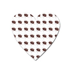 Insect Pattern Heart Magnet by Nexatart
